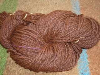 First Skein Brown Roving